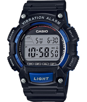 47.10mm Black digital watch with Dual time & vibration alarm