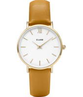 CL30034 Minuit Ladies watch on mustard leather strap