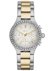 Chambers Bicolor & Crystals Multifunction Ladies watch
