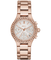 Chambers Rose Gold & Crystals Multifunction Ladies Watch