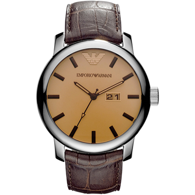 Emporio Armani Classics Maximus Steel Brown AR0429