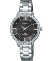 30mm Steel ladies watch with swarovski crystals
