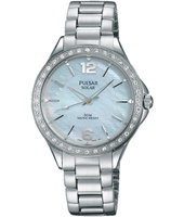 31mm Steel ladies watch with swarovski crystals
